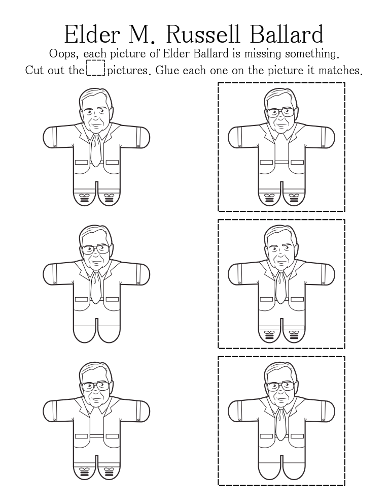 lds general conference tie coloring page